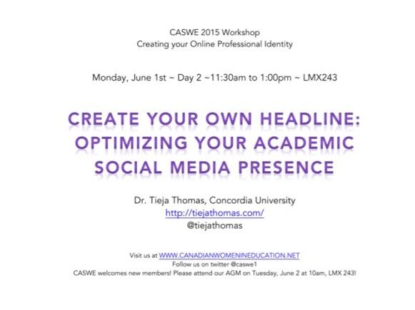 caswe workshop poster