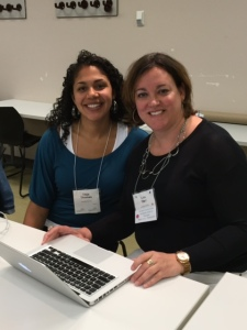 Lisa Starr & Tieja Thomas at the CASWE workshop on Creating your online academic presence